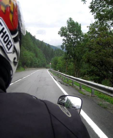 carretera en moto