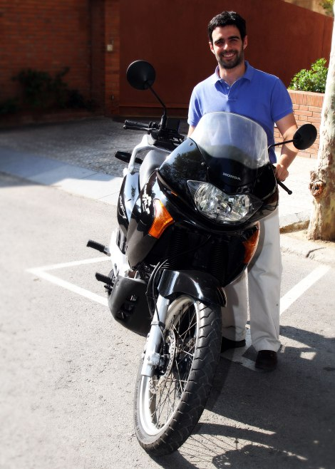 Transalp antes de la preparación, vuelta al mundo en moto, viaje moto