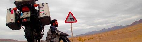 Irán en moto